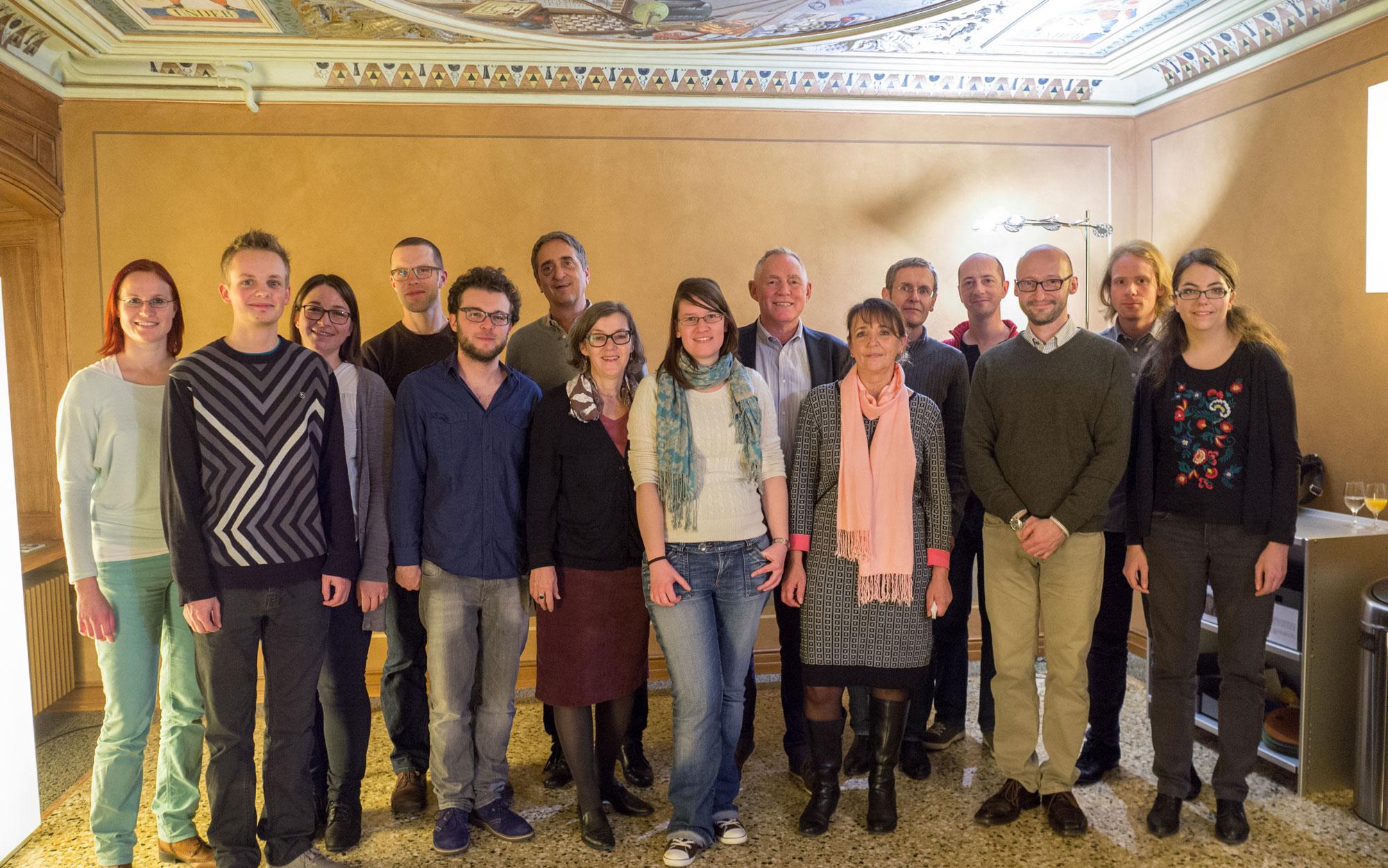 Das Idiotikon-Team zu Besuch in der Villa Patumbah, Zürich (2014)