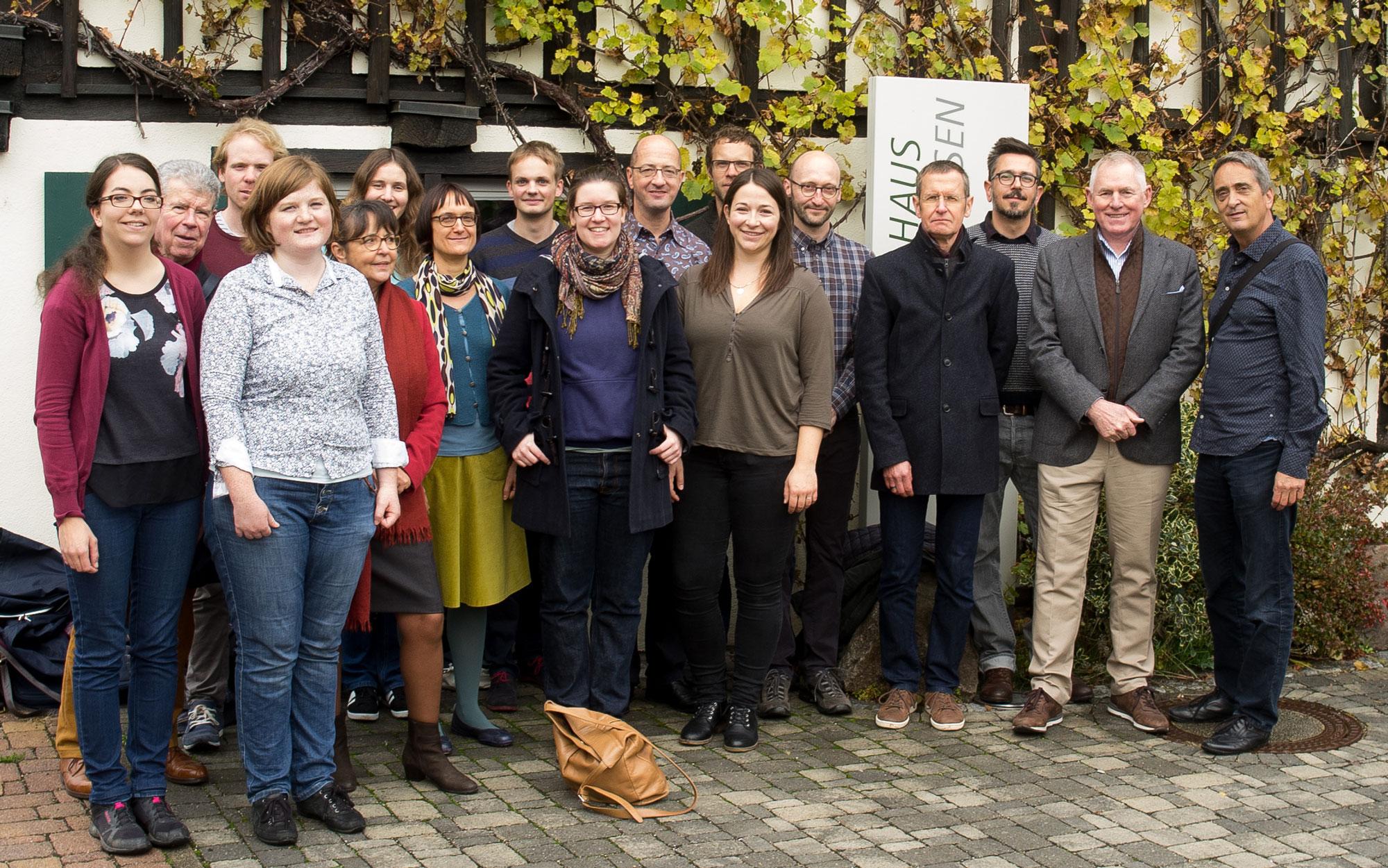 Das Idiotikon-Team vor dem Hebelhaus in Hausen im Wiesental (2016)