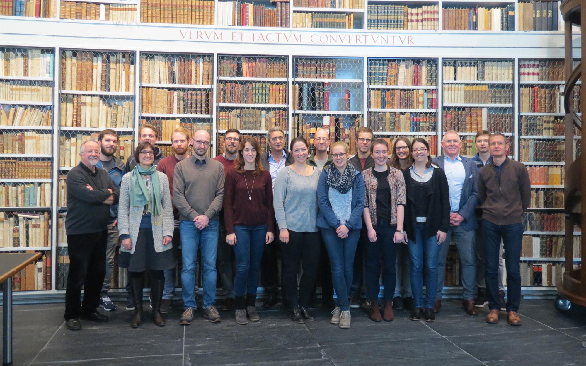 Das Idiotikon-Team auf dem Ausflug in die Bibliothek Werner Oechslin, Einsiedeln (2017)